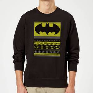 DC Comics Batman Christmas Sweater in Black