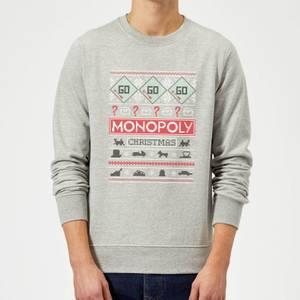 Monopoly Christmas Sweatshirt - Grey