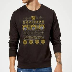 Bumblebee Classic Ugly Knit Christmas Sweatshirt - Black