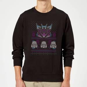Decepticons Classic Ugly Knit Christmas Sweatshirt - Black
