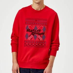 Harley Quinn Christmas Sweatshirt - Red