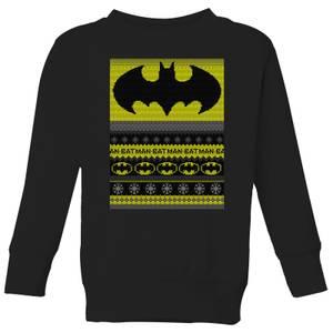 Batman Kids' Christmas Sweater - Black