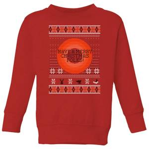 Looney Tunes Knit Kids' Christmas Sweatshirt - Red