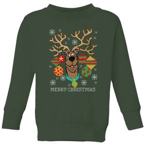 Scooby Doo Kids' Christmas Sweatshirt - Forest Green