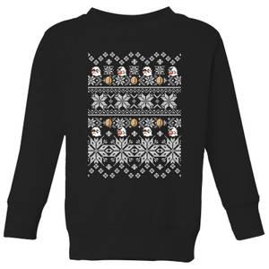 Nintendo Super Mario Retro Boo Kids' Christmas Sweatshirt - Black