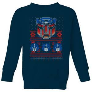 Felpa Autobots Classic Ugly Knit Christmas - Navy - Bambini