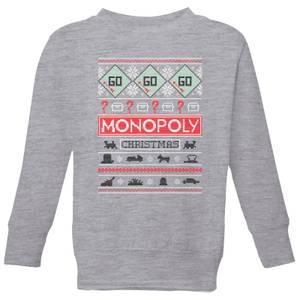 Monopoly Kids' Christmas Sweatshirt - Grey