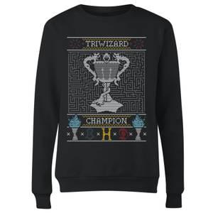 Triwizard Champion Women's Christmas Sweatshirt - Black