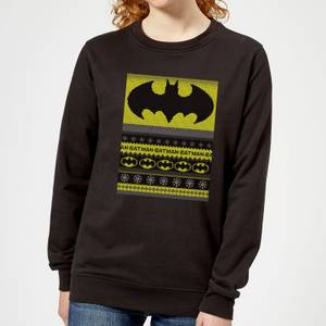 DC Comics Batman Women's Christmas Sweater in Black