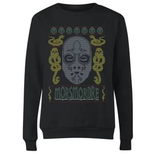 Morsmordre Women's Christmas Sweatshirt - Black