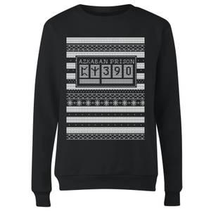 Azkaban Prison Women's Christmas Sweatshirt - Black
