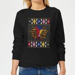 Power Rangers Women's Christmas Sweatshirt - Black