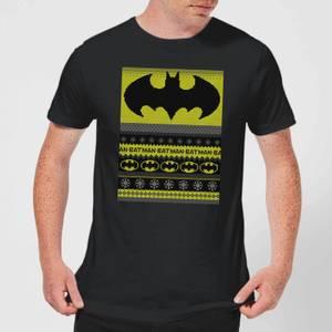 DC Comics Batman Men's Christmas T-Shirt in Black