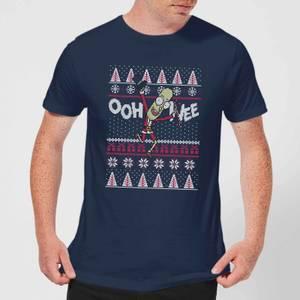 T-Shirt Rick and Morty Ooh Wee Christmas - Navy - Uomo