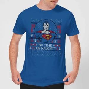 Superman May Your Holidays Be Super Men's Christmas T-Shirt - Royal Blue