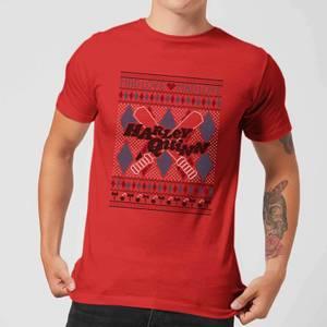 Harley Quinn Men's Christmas T-Shirt - Red