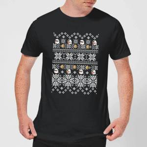 Nintendo Super Mario Retro Boo Men's Christmas T-Shirt - Black