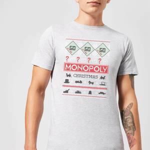 Monopoly Men's Christmas T-Shirt - Grey