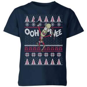 T-Shirt Rick and Morty Ooh Wee Christmas - Navy - Bambini