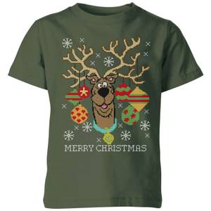 Scooby Doo Kids' Christmas T-Shirt - Forest Green