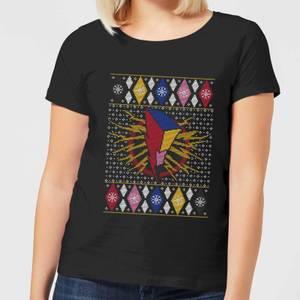 Power Rangers Women's Christmas T-Shirt - Black
