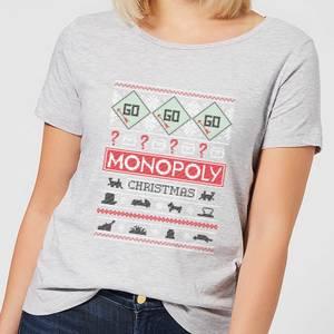 Monopoly Women's Christmas T-Shirt - Grey