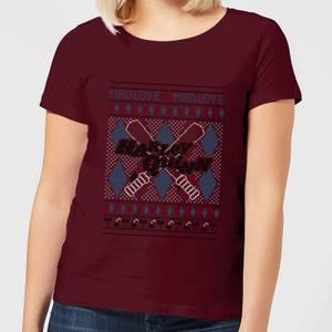 Harley Quinn Women's Christmas T-Shirt - Burgundy
