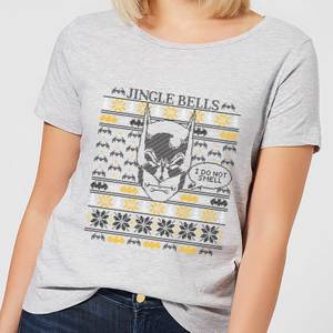 DC Comics Batman I Do Not Smell Women's Christmas T-Shirt in Grey