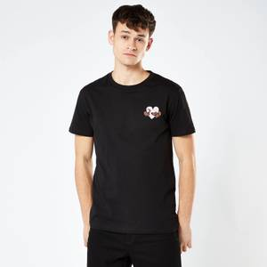 Sausage Dog Love Heart Unisex Embroidered T-Shirt - Black