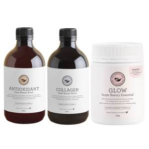 The Beauty Chef Glow, Collagen and Antioxidant Trio (Worth $155.00)