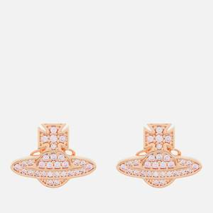 Vivienne Westwood Women's Romina Pave Orb Earrings - Pink Gold