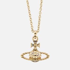 Vivienne Westwood Women's Mayfair Bas Relief Pendant - Gold Crystal