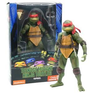 """NECA Teenage Mutant Ninja Turtles 7"""" Figure 1990 Movie Raphael"""