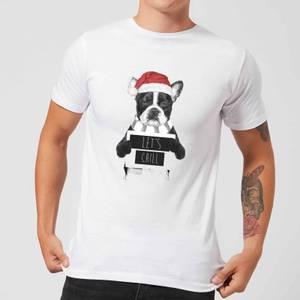Balazs Solti Let It Snow Frenchie Christmas Men's T-Shirt - White