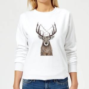 Balazs Solti Xmas Deer Women's Sweatshirt - White