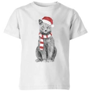 Balazs Solti Xmas Cat Kids' T-Shirt - White