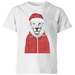 Balazs Solti Santa Lion Kids' T-Shirt - White
