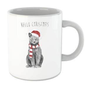 Balazs Solti Hello Christmas Cat Mug