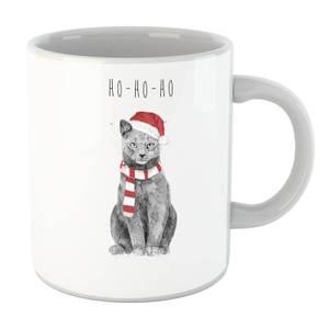 Balazs Solti Ho Ho Ho Christmas Cat Mug