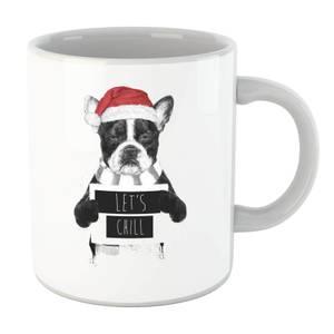 Balazs Solti Let It Snow Frenchie Christmas Mug