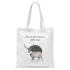 Balazs Solti May All Your Days Be Snow Days Tote Bag - White