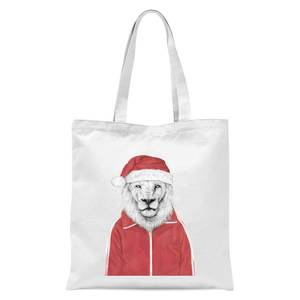 Balazs Solti Santa Lion Tote Bag - White