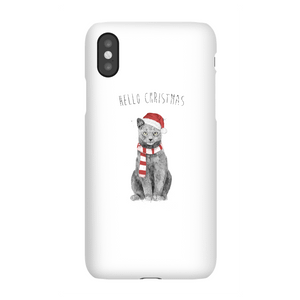Balazs Solti Hello Christmas Cat Phone Case for iPhone and Android
