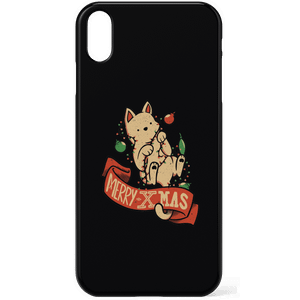 Tobias Fonseca Merry Xmas Cat Phone Case for iPhone and Android