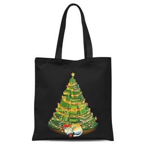 Tobias Fonseca My Favorite Xmas Tree Tote Bag - Black