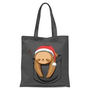 Tobias Fonseca Sloth In A Pocket Xmas Tote Bag - Grey