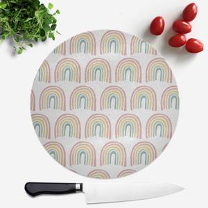 Hand Drawn Rainbow Pattern Round Chopping Board