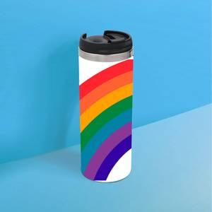 Retro Rainbow Thermo Insulated Travel Mug