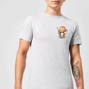 Tobias Fonseca Sloth In A Pocket Xmas Men's T-Shirt - Grey