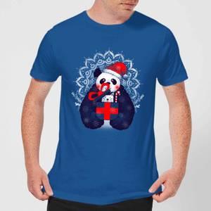 Tobias Fonseca Xmas Panda Men's T-Shirt - Royal Blue